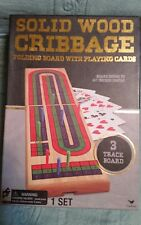 Cardinal - Solid Wood Cribbage Folding Board Game With Cards - New in the Box
