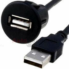 USB Einbau Buchse Adapter Kabel Anschluss AUX Verlängerung für Radio iPhone PC