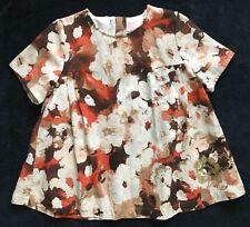 3929d8b20264d VGC SZ 7-8 Girls ESCADA blouse Cotton Viscose Floral Swing Top France  Designer