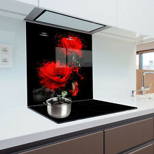 Kitchen Glass Splashback Heat Resistant Toughened Glass 60x75cm