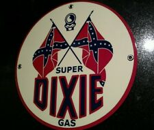 Super Dixie Oil Gasoline gas sign