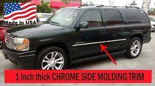 Flexible Chrome Side Door Molding Rocker Panel Trim Kit For YUKON 2000-2006