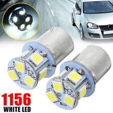 2pcs 12v  BA15S R5W 1156 5050 8SMD LED Car Tail Turn Signal Light Bulb White
