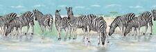 SAFARI ANIMALS, ZEBRA Wallpaper Border NK74873