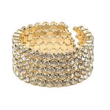Amrita Singh Gold Crystal Open Ayla Sister Cuff Bracelet BRC 5123 NWT