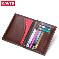 Men Genuine Leather Passport Holder Travel Wallet ID Cards Case Cover Organizer