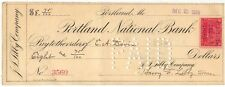 1899 Check, PORTLAND NATIONAL BANK, Portland, Maine