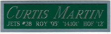 CURTIS MARTIN JETS NAMEPLATE FOR AUTOGRAPHED SIGNED FOOTBALL-HELMET-JERSEY-PHOTO