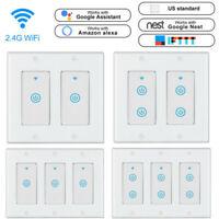 1/2/3Gang 2 Way Smart WiFi Light Wall Switch Touch Panel Alexa Google IFTTT lot