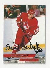 93/94 Ultra Autographed Hockey Card David Harlock Team Canada