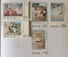 Korea healthcare medicine 1975  x5 used postage stamps
