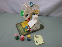 Vintage Fisher Price FP Little People Musical Ferris Wheel 969 E 3 figures lot
