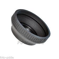 Goma oscurecidos 37 mm estándar plegable lens Hood parasol
