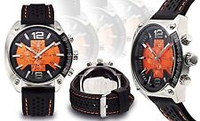 NEW NY London 9812-ORG Men's Boost Collection Colorful Orange Dial Unique Watch