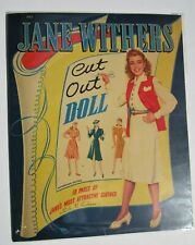 Vintage JANE WITHERS paper dolls -clothes & costumes - pre-cut