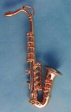 1/12TH Échelle Maison de poupées saxophone ténor + étui