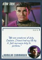 Star Trek TOS Archives & Inscriptions card #19 Romulan Commander  Var 16 of 16
