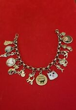 Silver Crazy Cat Lady Charm Bracelet (cat lover )