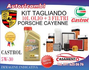KIT TAGLIANDO PORSCHE CAYENNE 4.8 TURBO 368 KW (5/2010-2014)+ 10L CASTROL 5W30