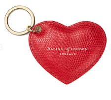 Aspinalls of London Red Berry Heart Key Ring *NEW/FREE POSTAGE*