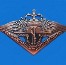 AUSTRALIAN RASB RETURNED FROM ACTIVE SERVICE BADGE MEDAL CURRENT AWARD RAR SASR