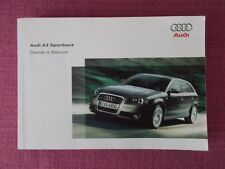 AUDI A3 SPORTBACK (2004 - 2008) HANDBOOK - USER MANUAL INCLUDES 3.2 V6. (AU 101)