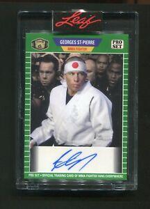 2021 Leaf Pro Set Georges St-Pierre Auto Autograph 2/4 MMA UFC