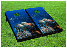 VINYL WRAPS Cornhole Boards DECALS Oceanic Turtle Bag Toss Game Stickers 796