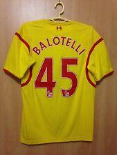 LIVERPOOL ENGLAND 2014/2015 AWAY FOOTBALL SHIRT JERSEY MARIO BALOTELLI #45