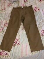 Mens 36w Gap Chinos Trousers 36/30 Rare Straight Marca Clean Khaki Clean Caramel