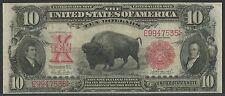 """FR119 $10 """"BISON"""" NOTE 1901 SERIES LEGAL TENDER PARKER / BURKE VF+ WLM916"""