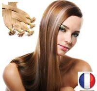 50,150, 200 EXTENSIONS DE CHEVEUX POSE A CHAUD 100% NATURELS REMY HAIR U TIP 3A+