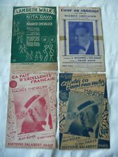 4 partitions Maurice Chevalier années 1938 1939 lot 16