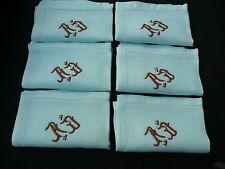 6 serviettes anciennes AD
