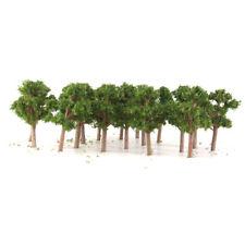 50pcs 1:200 Banyan Bäume Modellbäume Parklandschaft Zugmodell Dunkelgrün