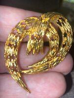 Vintage goldtone brooch pin estate sale.