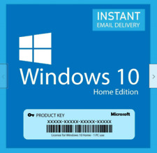 WINDOWS 10 HOME 32/64 BIT GENUINE ACTIVATION KEY INSTANT DELIVERY 5 SECONDS