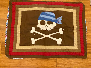 Circo Quilted Pirate Adventures Pillow Sham Standard Size Pillowcase Excellent