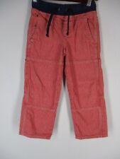 Mini Boden Boys Red/White Striped Cotton Carpenter Pants  6 yr