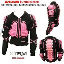 Motocross Bike Ride Protective XT Edge Kids Body Armour CE Approved Pink New