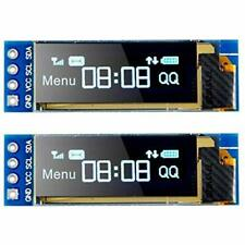 2pcs I2C Optoelectronic Displays OLED Module 0.91 Inch SSD1306 Blue Screen DC