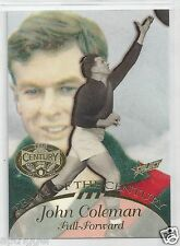 1996 Select Hall of Fame Team of the Century (TC 15) John COLEMAN Essendon ~~