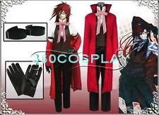 Black Butler Shinigami Grell Sutcliff (Gureru Satokurifu) Cosplay Costume Set