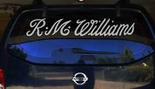 RM WILLIAMS 1800mm LONGHORN STICKER, Car Truck 4x4 Ute Decal RMW Window Decal
