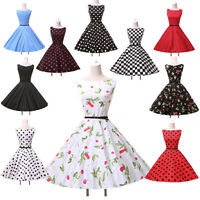 10 Style Vintage 50s Sleeveless Swing Pin up Evening Prom Party Dress