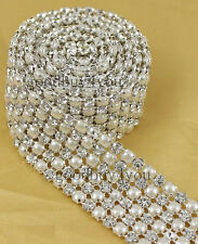 1 Yard 5mm Diamond And Pearl Wedding Cake Banding Trim Ribbon Decoration