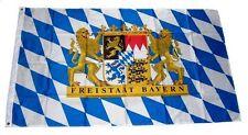 Bayern Freistaat mit Löwenwappen Flagge Fahne 1,50x2,50m mit Ösen