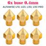 6x Buse 0.4mm embout nozzle imprimante 3d pour Alfawise U10 / U20 / U30 /U30 Pro