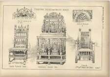 1904 Silla Muebles bocetos flamenca convirtió ceniza 17th-Century