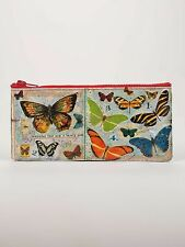 "Blue Q ""Butterfly Society"" pencil case vintage art eco recycled by ArtBird"